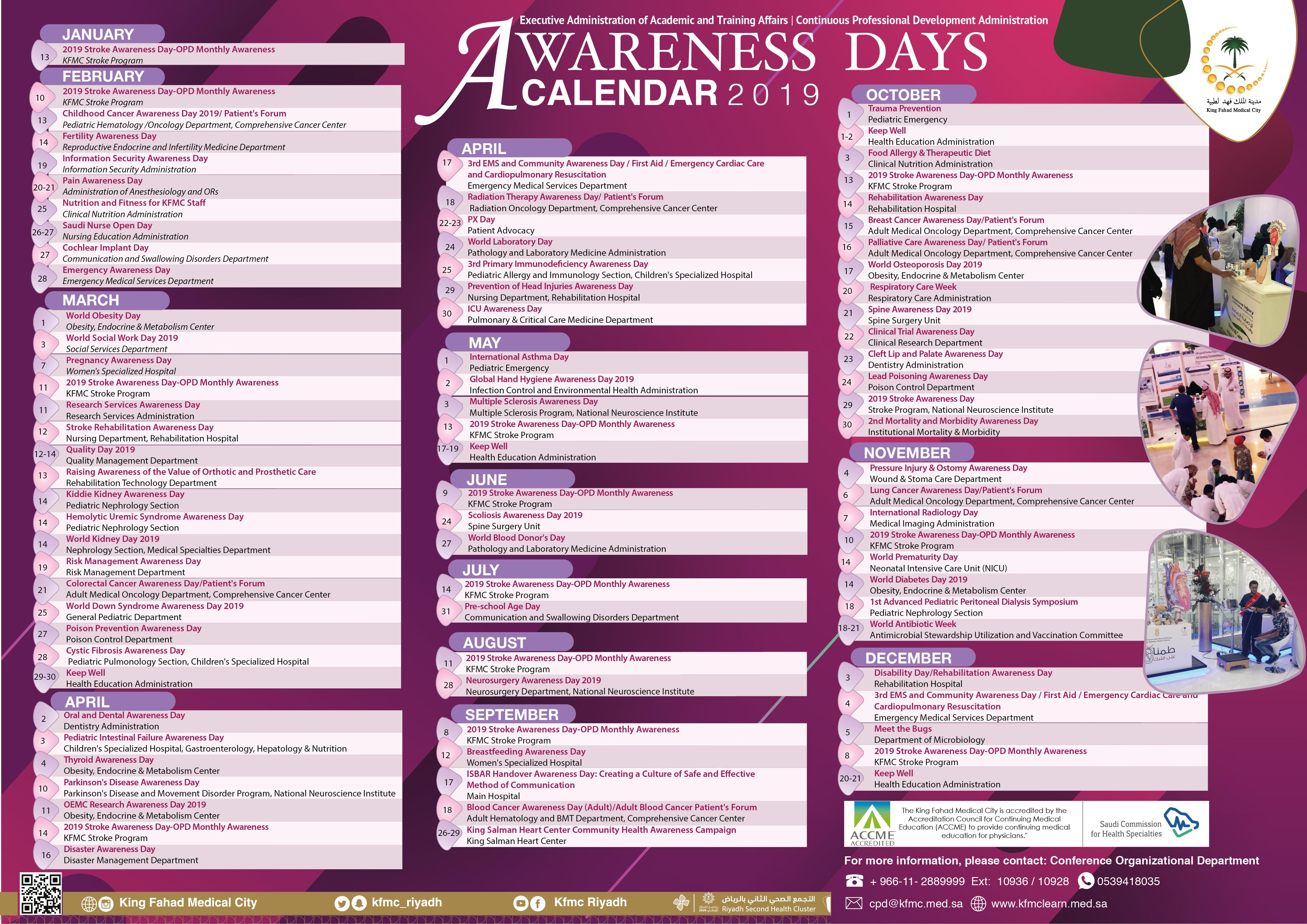 Awareness Calendar 2019 Pages   Awareness Days